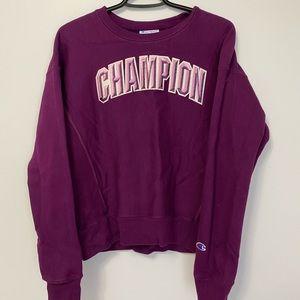 champion reverse weave block arch sweatshirt